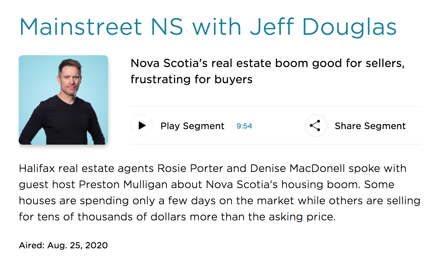 Listen to Mainstreet on CBC - Red Door Realty